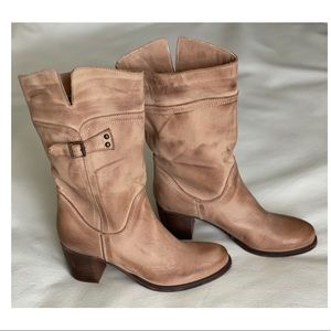 Fatte A Manno Genuine Leather Boots Tan/Brown Size: 8